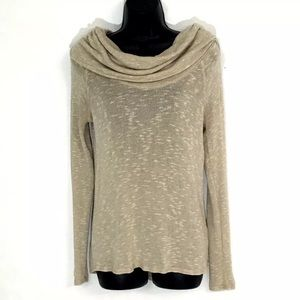 Soft Joie XS sweater Marled knit Cowl lightweight